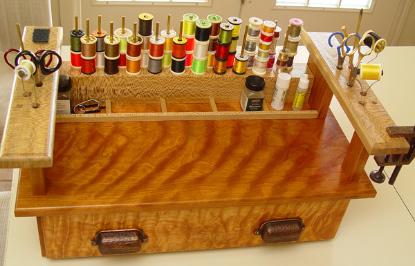 Chuck Sent Me These Pictures, Of His Fly Tying Station: